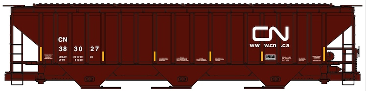 Canadian National Pullman Standard 3 Bay Covered Hopper Kit