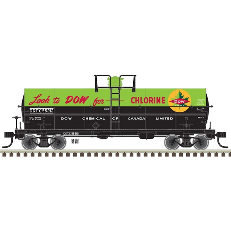 Dow Canada (GCTX) #55213 (Green/Black) 11,000 Gallon Tank Car