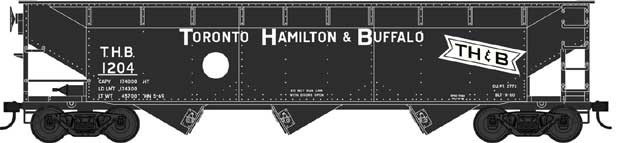 70 Ton Offset Hopper-Toronto, Hamilton & Buffalo-White Circle #1245