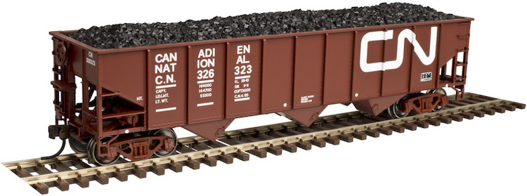 AAR 70 Ton 3 Bay Open Hopper 3pk CN (black,white)