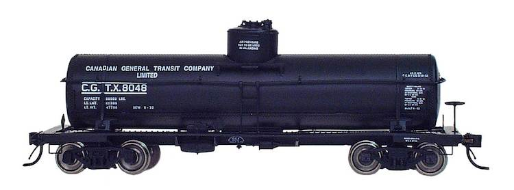 ACF Type 27 Riveted 8000 Gallon Tank Car Canadian General Transit