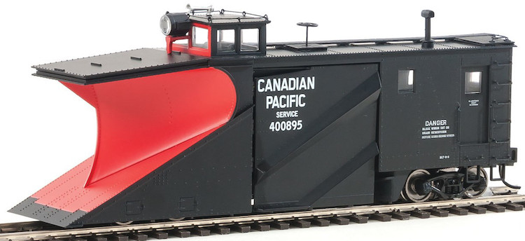 Russell Snowplow Canadian Pacific #400895 -black,red, Block,early headlight