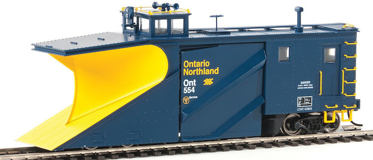 Russell Snowplow Ontario Northland #554 (blue,yeloow)